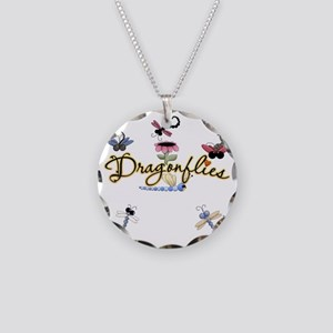 Dragonflies Ultra Necklace Circle Charm
