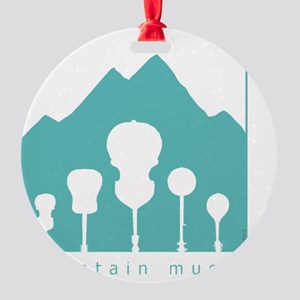 mountain music transparent Round Ornament