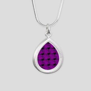 purple scorpions Silver Teardrop Necklace