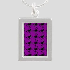 purple scorpions Silver Portrait Necklace