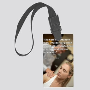 chiro-poster-005 Large Luggage Tag