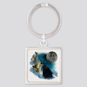New Wolfs moon 2 Square Keychain