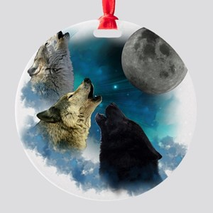 New Wolfs moon 2 Round Ornament