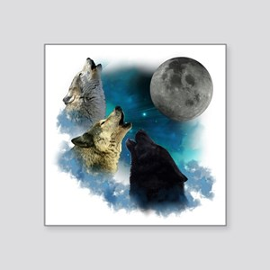 "New Wolfs moon 2 Square Sticker 3"" x 3"""