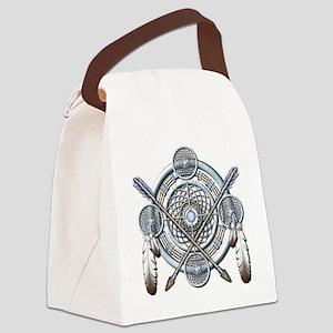 Winter Blue Dreamcatcher Canvas Lunch Bag