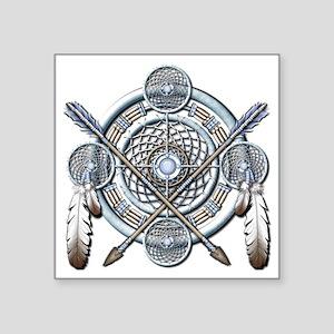 "Winter Blue Dreamcatcher Square Sticker 3"" x 3"""