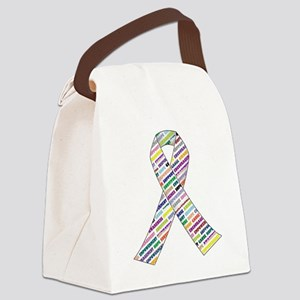 all cancer rep ribbon 2 Canvas Lunch Bag