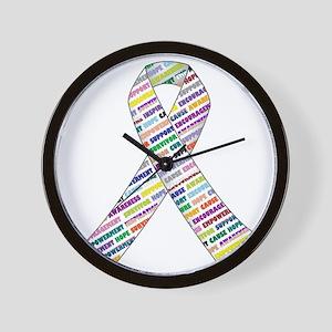 all cancer rep ribbon 2 Wall Clock