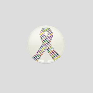 all cancer rep ribbon 2 Mini Button