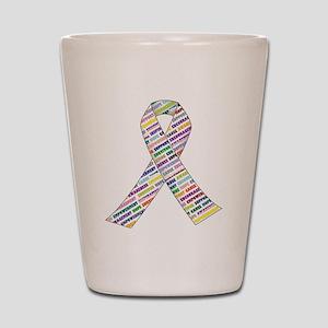 all cancer rep ribbon 2 Shot Glass