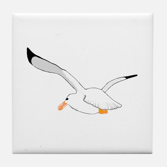 Seagull In Flight Tile Coaster