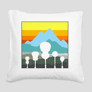 mountain music color transpar Square Canvas Pillow