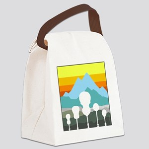 mountain music color transparent Canvas Lunch Bag
