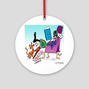 4845_cat_cartoon Round Ornament
