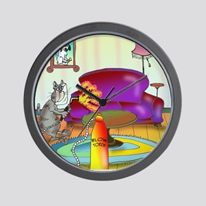 6567_welding_cartoon Wall Clock