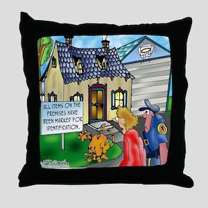 3490_cat_cartoon Throw Pillow