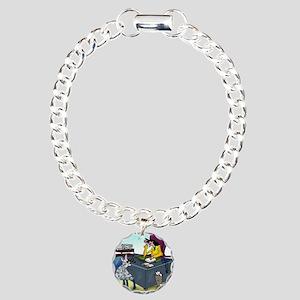 7355_insurance_cartoon Charm Bracelet, One Charm