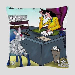 7355_insurance_cartoon Woven Throw Pillow