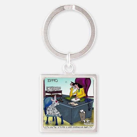 7355_insurance_cartoon Square Keychain