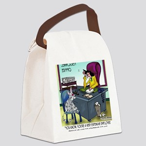 7355_insurance_cartoon Canvas Lunch Bag
