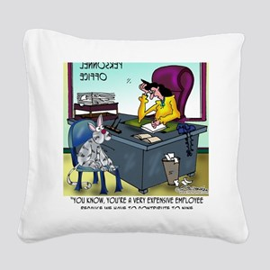 7355_insurance_cartoon Square Canvas Pillow