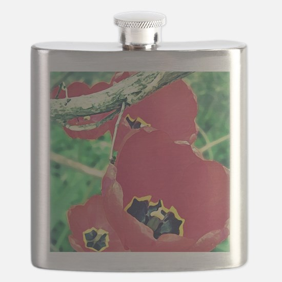 Tulips Painting Flask