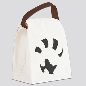 Red Panda (transparent ver.) Canvas Lunch Bag