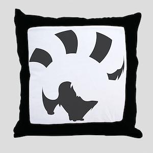 Red Panda (transparent ver.) Throw Pillow