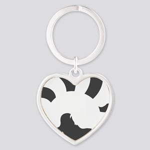 Red Panda (transparent ver.) Heart Keychain