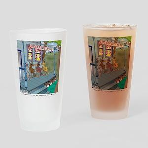 6755_denture_cartoon Drinking Glass