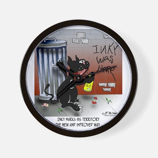 5677_cat_cartoon Wall Clock