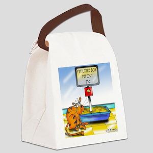 4833_cat_cartoon Canvas Lunch Bag