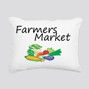 Farmers Market Rectangular Canvas Pillow