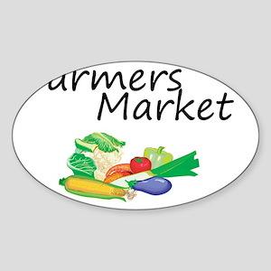 Farmers Market Sticker (Oval)