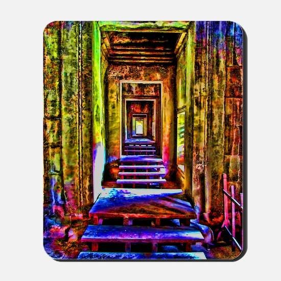 door to door colorful Mousepad