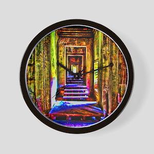 door to door colorful Wall Clock