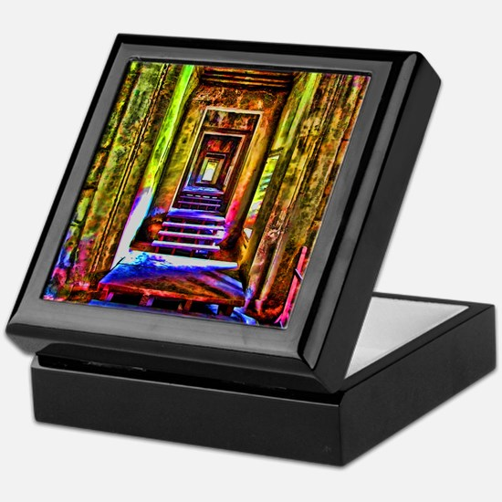 door to door colorful Keepsake Box