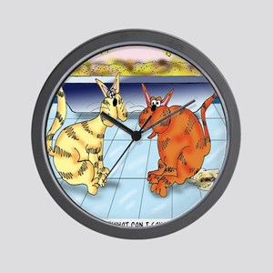 6895_cat_cartoon Wall Clock