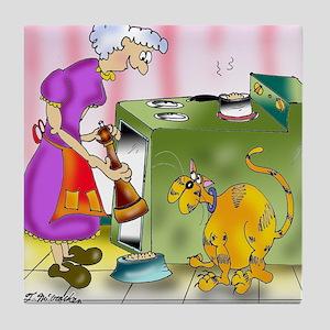 6847_cat_cartoon Tile Coaster