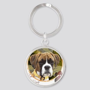 boxers_rule Round Keychain