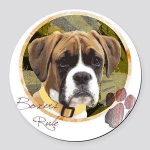 boxers_rule Round Car Magnet