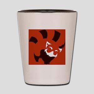 Red Panda (solid ver.) Shot Glass