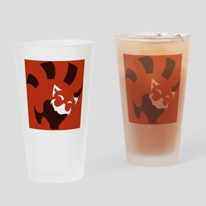 Red Panda (solid ver.) Drinking Glass