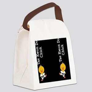 TaeKwonDoChickFlipFlopsCP Canvas Lunch Bag
