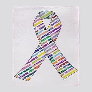 all cancer rep ribbon 2.1 Throw Blanket