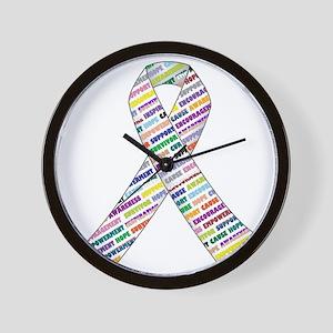 all cancer rep ribbon 2.1 Wall Clock