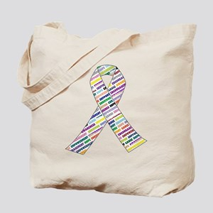 all cancer rep ribbon 2.1 Tote Bag