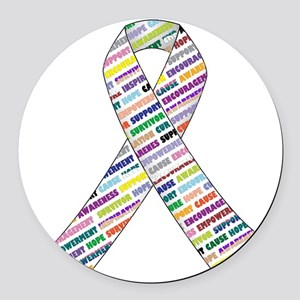 all cancer rep ribbon 2.1 Round Car Magnet