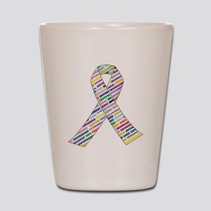 all cancer rep ribbon 2.1 Shot Glass