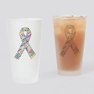 all cancer rep ribbon 2.1 Drinking Glass